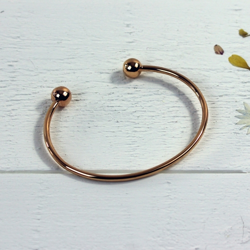 Torque Bangle - Rose gold