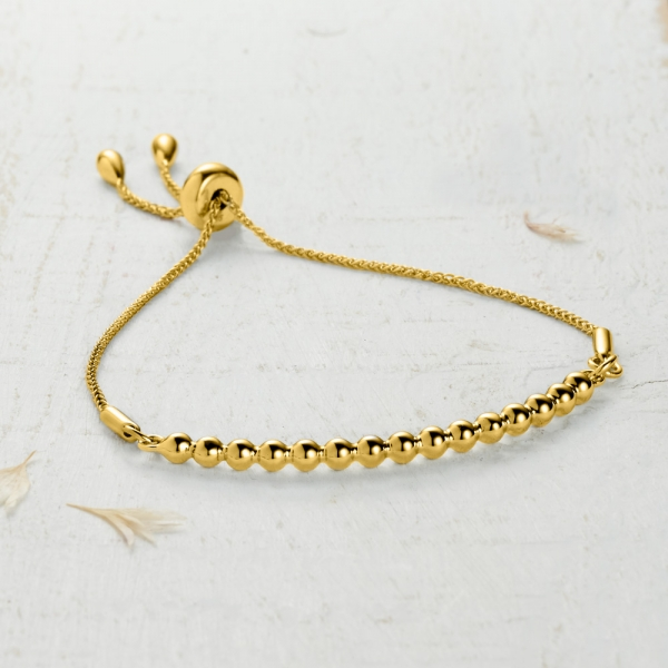 Newlyn Bobble Bracelet - gold