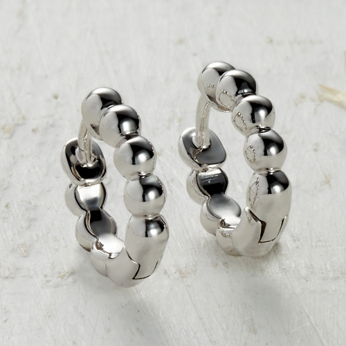 Newlyn Bobble Earrings - silver