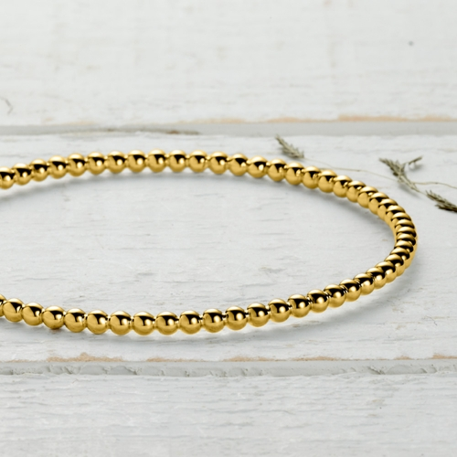 Newlyn Bobble Bangle - gold