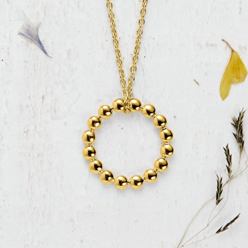 Newlyn Bobble Pendant - gold