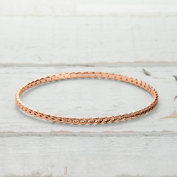 Newlyn Knot Bangle - rose gold