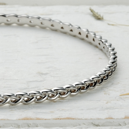 Newlyn Knot Bangle -silver