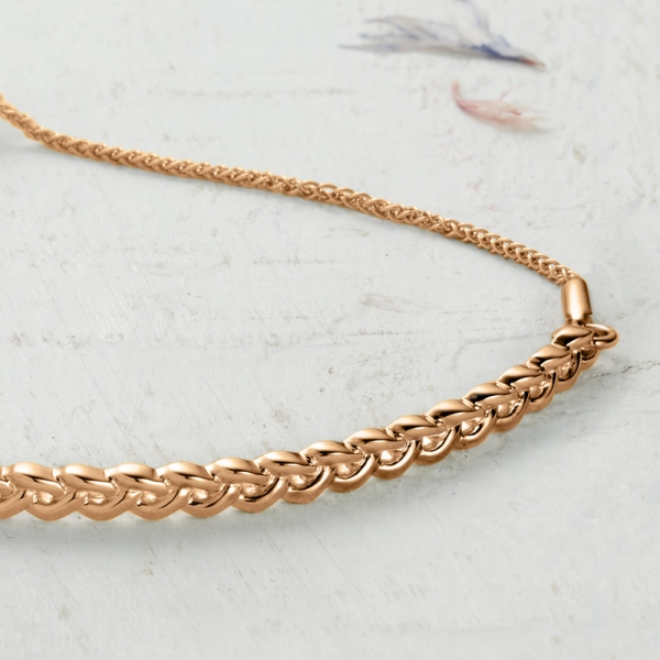 Newlyn Knot Bracelet - rose gold