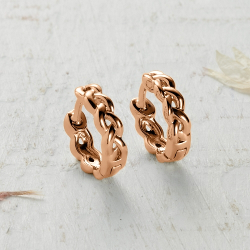 Newlyn Knot Earrings - rose gold