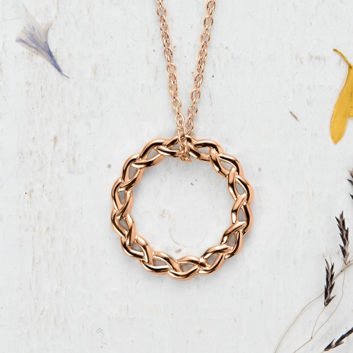 Newlyn Knot Pendant - rose gold