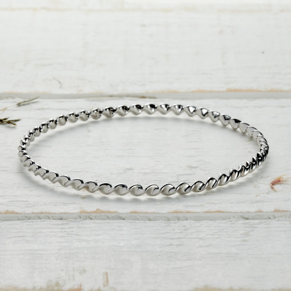 Newlyn Twist Bangle - silver