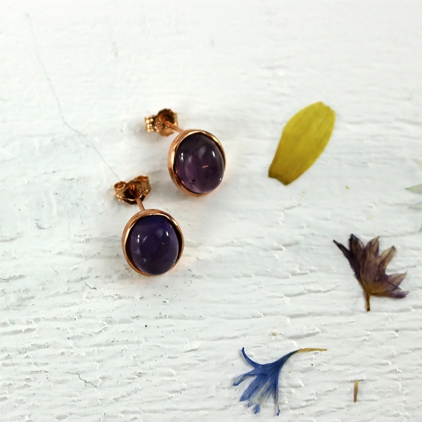 Kelester Stud Earrings - amethyst
