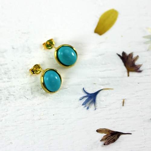 Kelester Stud Earrings - turquoise