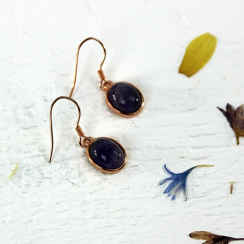 Kelester Drop Earrings - amethyst