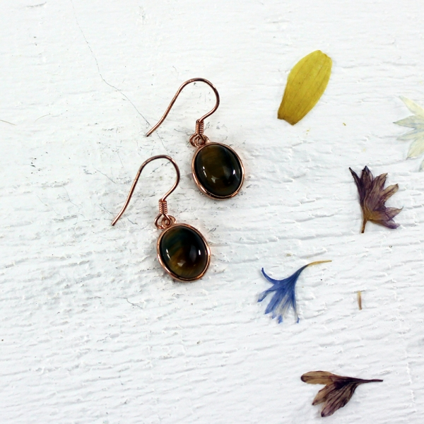 Kelester Drop Earrings - tigers eye
