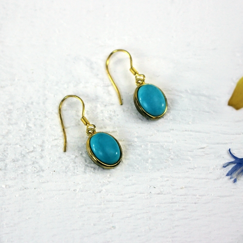 Kelester Drop Earrings - turquoise