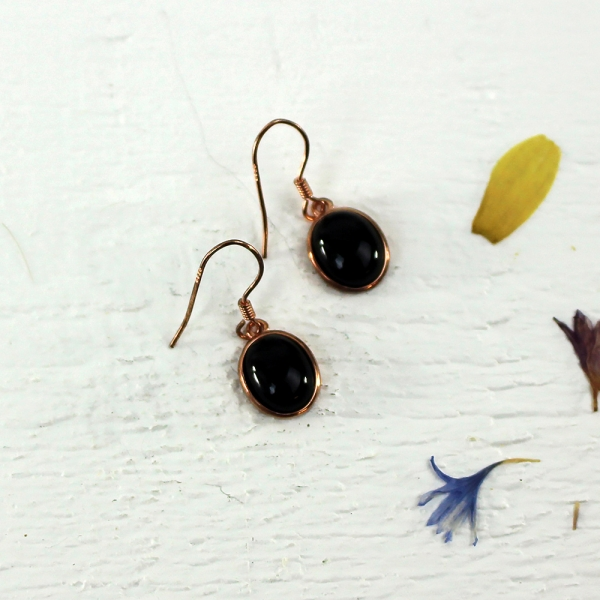 Kelester Drop Earrings - black agate