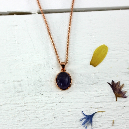 Kelester Pendant and Chain - amethyst