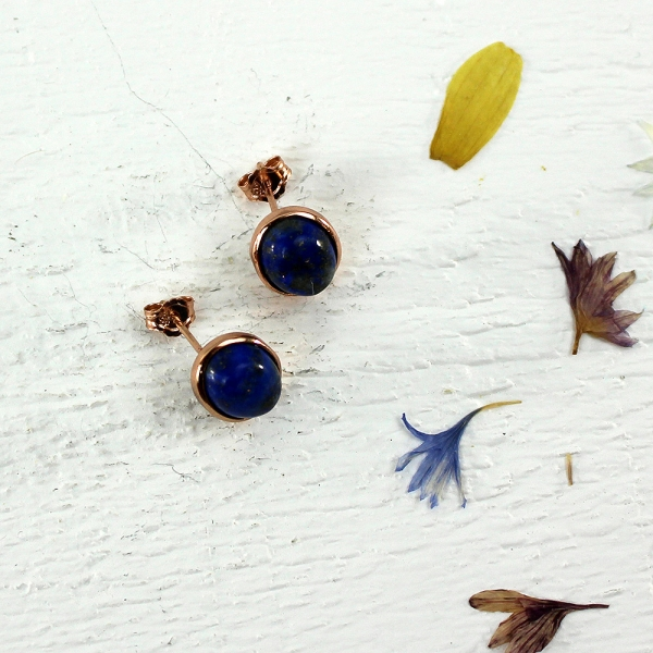 Kelester Stud Earrings - lapis lazuli