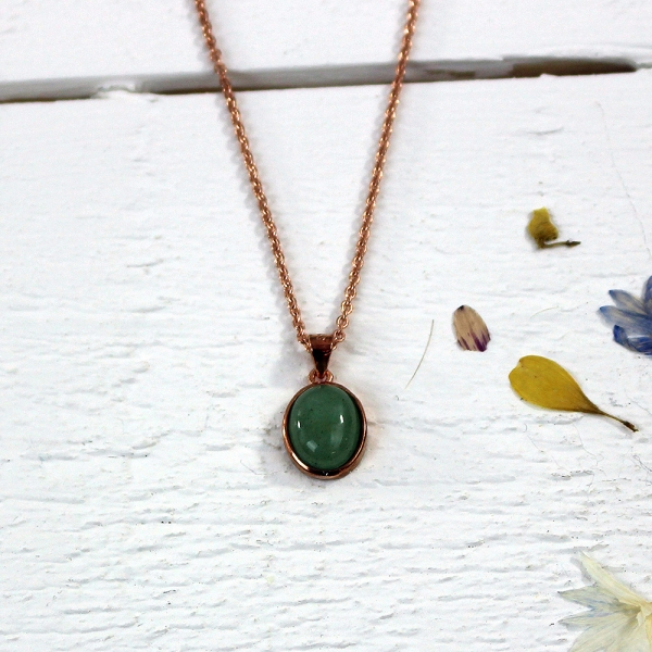 Kelester Pendant and Chain - aventurine
