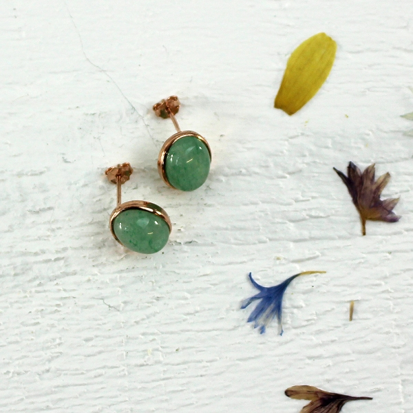Kelester Stud Earrings - aventurine