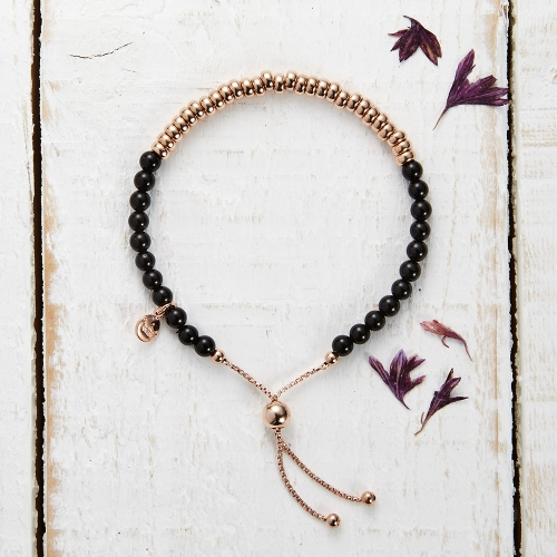 Sky Bar Bracelet - Black Agate