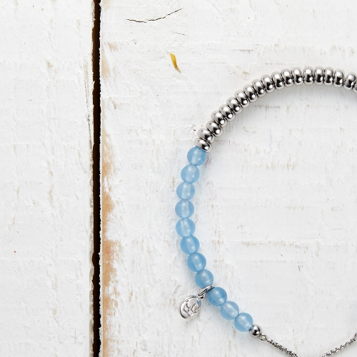Sky Bar Bracelet - Blue Quartzite