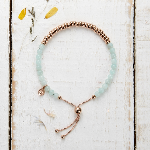 Sky Bar Bracelet - Mint Quartzite