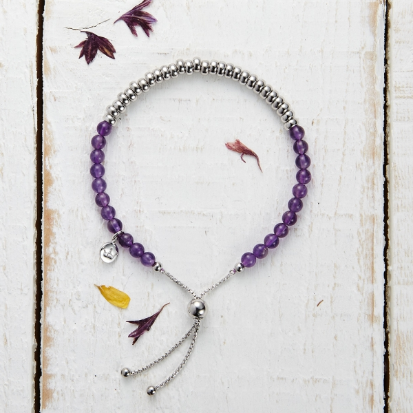 Sky Bar Bracelet - Purple Quartzite