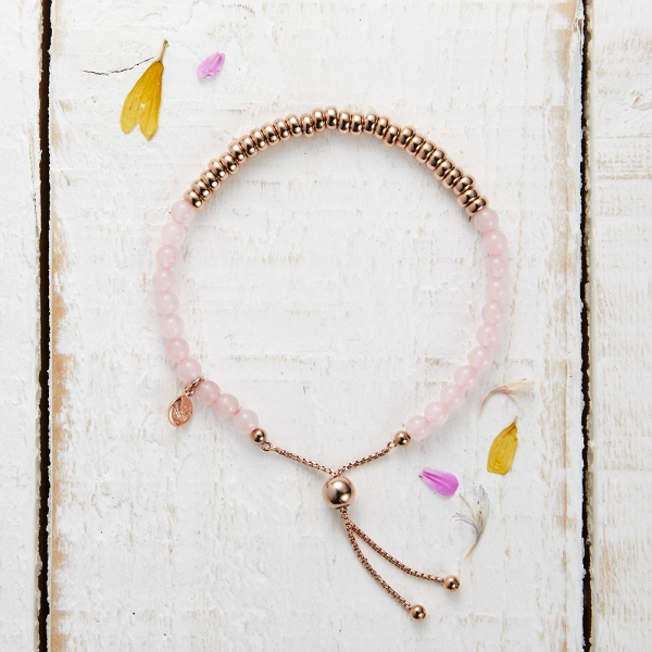 Sky Bar Bracelet - Rose Quartzite