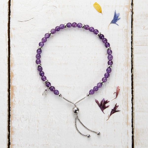 Sky Scatter Bracelet - Purple Quartzite
