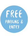 Free parking and entry