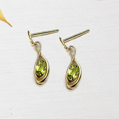 Tamara drop earings - peridot