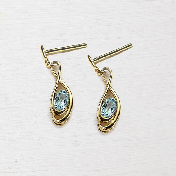 Tamara drop earings - topaz