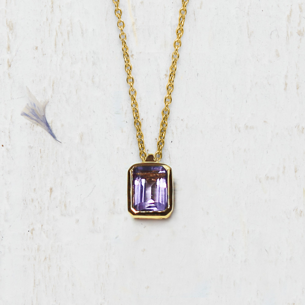 Pendant Rectangle - amethyst